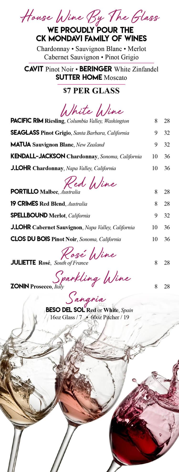 Dessert/Wine – Mj's Restaurant