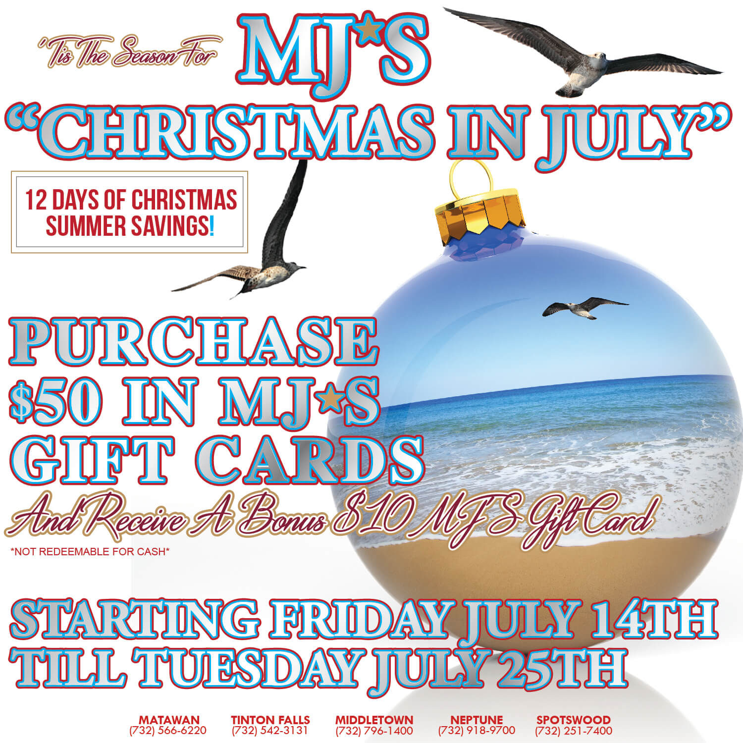Gift Card Christmas july